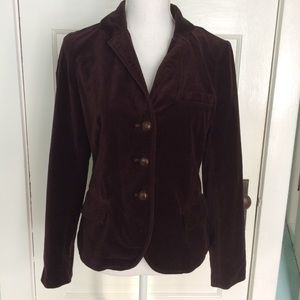 J Crew Factory Deep Purple Velvet Blazer 86509, XS